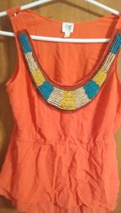 Anthropologie Coral Blouse